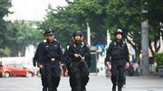 香港特区警察学院雨中结业会操