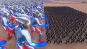 史詩戰爭模擬器:奧特曼打怪獸,50個賽羅vs1000個哥斯拉!