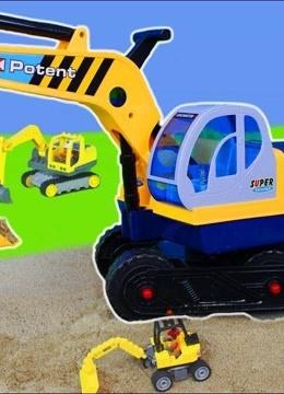 挖掘机 卡车 起重机 罐车 水泥车 搅拌车 小汽车 儿童亲子玩具